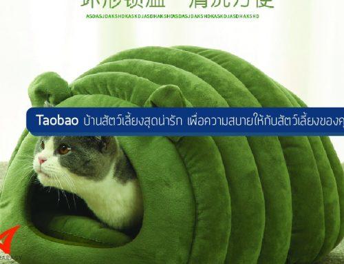 Taobao บ้านสัตว์เลี้ยงสุดน่ารัก เพื่อความสบายให้กับสัตว์เลี้ยงของคุณ